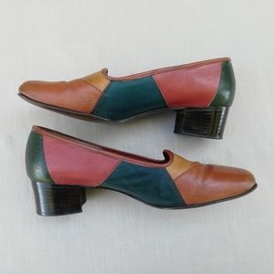 Vintage Leather Patchwork Shoes